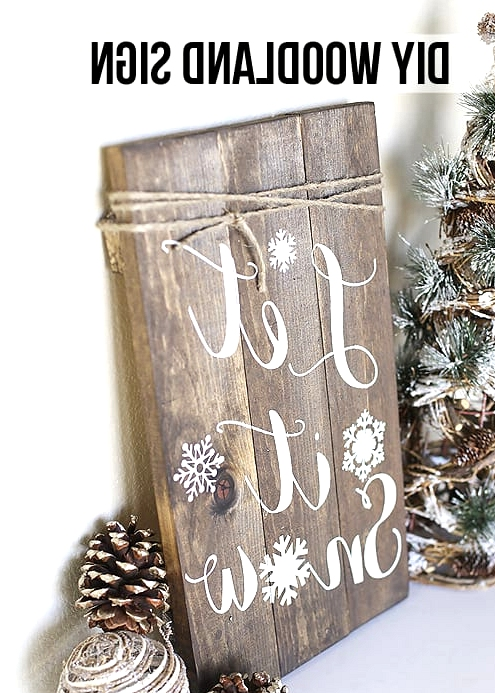 #12. DIY WOODLAND SIGN PERFECT FOR THE HOLIDAY SEASON