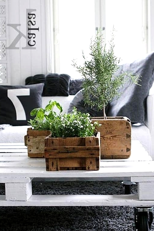 #13. SCANDINAVIAN COFFEE TABLE RISEN FROM AN OLD WOODEN PALLET