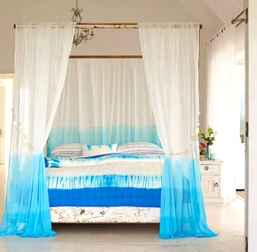 Add a Beachy Dyed Canopy to the Bed