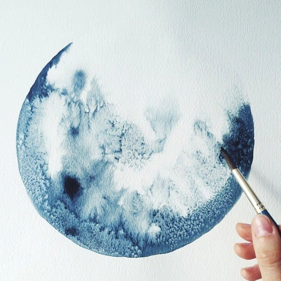 diffusing watercolor