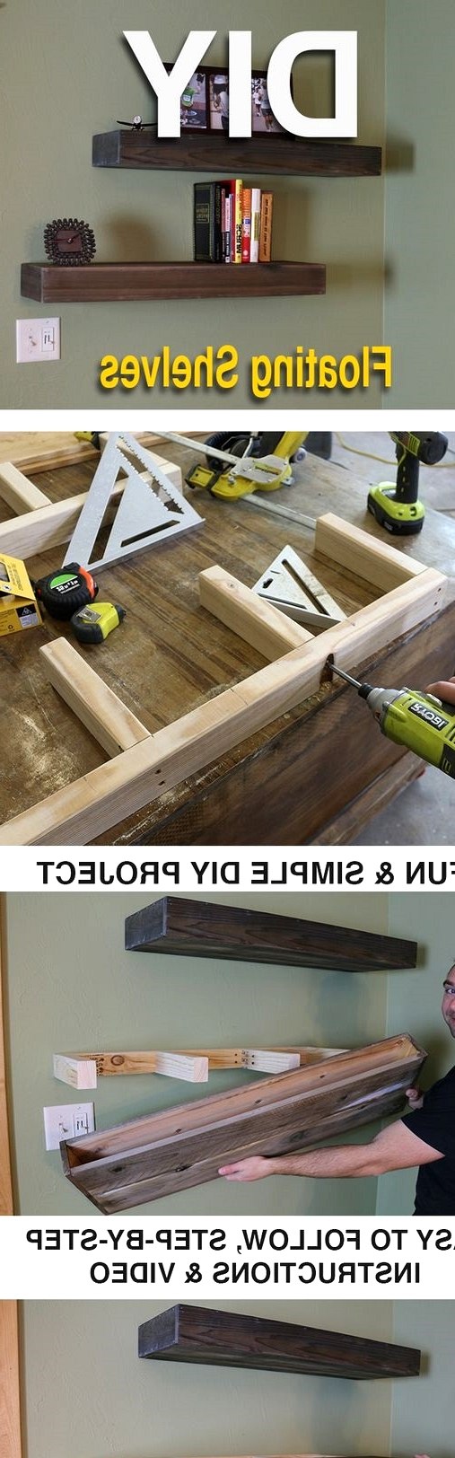 LEARN HOW TO MAKE A WOOD FLOATING SHELVES