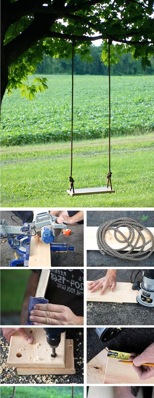 simple to realize outdoor swing backyard project