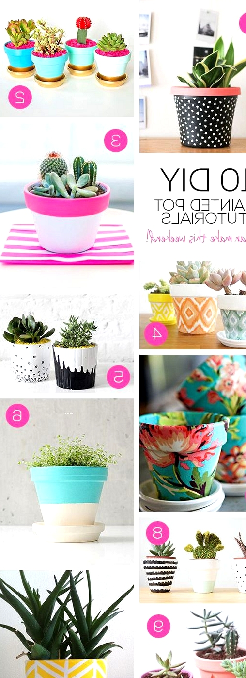 painting pretty plant pots