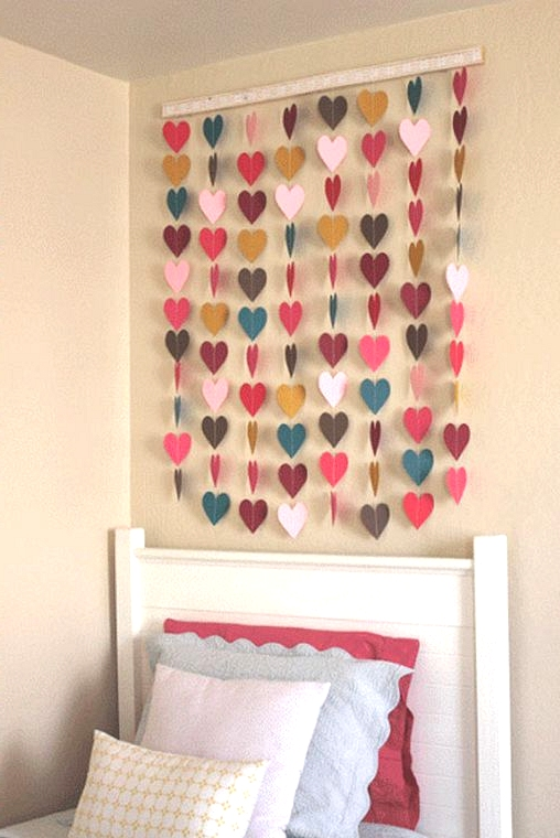 create a beautiful heart paper garland