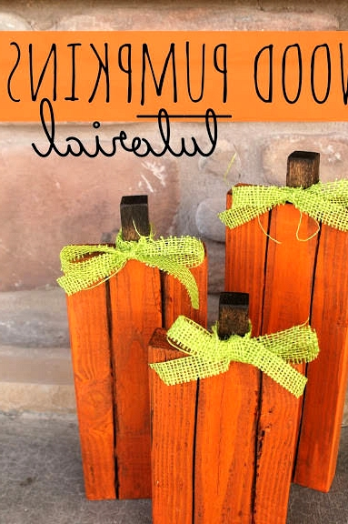 create wooden pumpkins for halloween