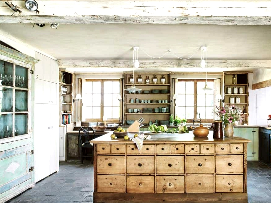 An Antique Kitchen Island