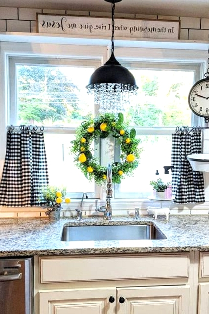 A Beautiful Chandelier in the Kitchen