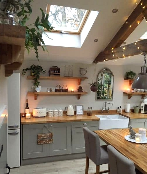 Naturally Illuminated Farmhouse Kitchen