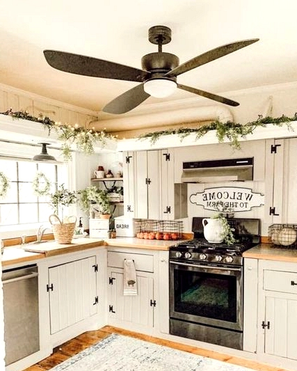 A Ceiling Fan in the Kitchen