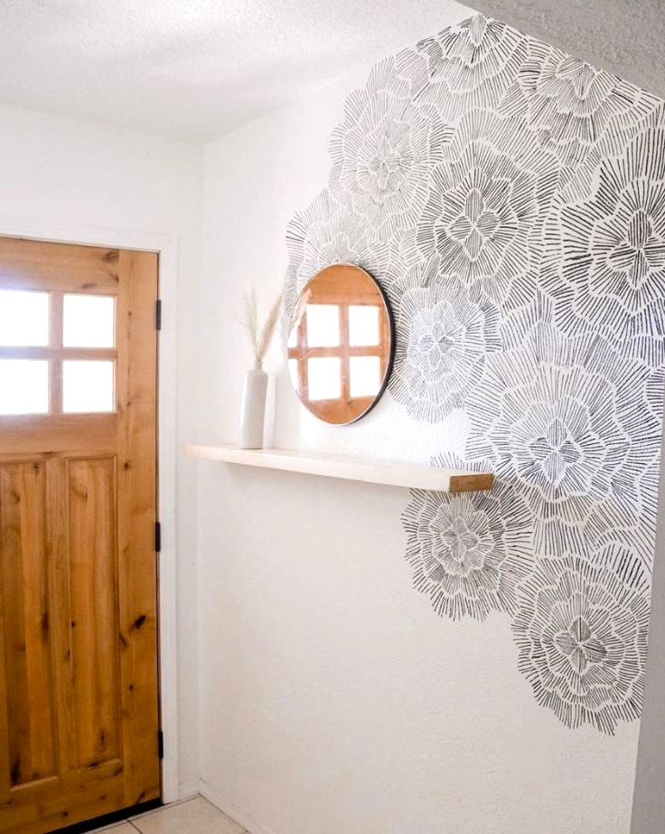 DIY Sharpie accent wall idea for the carefree DIY'er