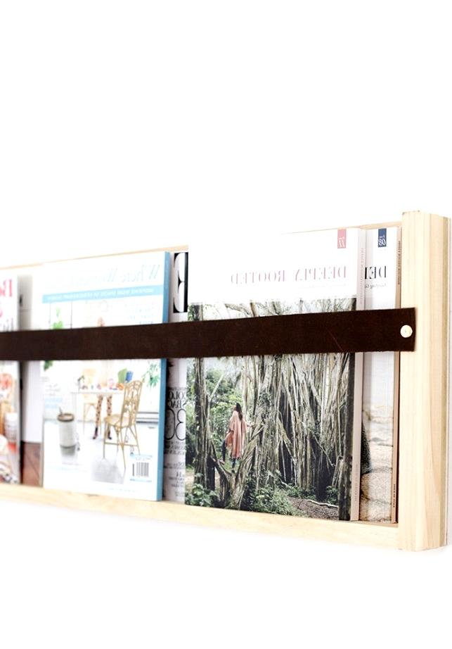 DIY Modern Magazine shelf