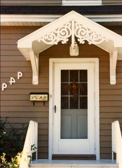 A Victorian Themed Porch Roof