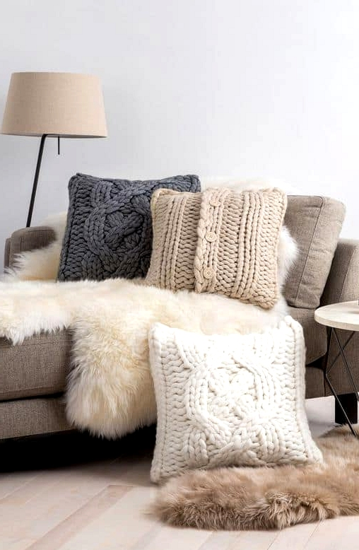 Cable-Knit Pillows Add a Lot of Warmth and Charm