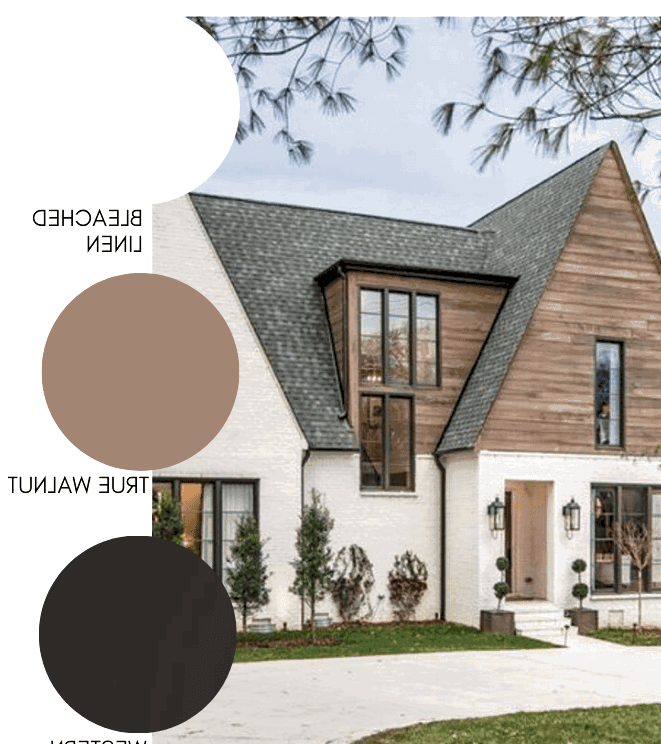 This warm exterior is the epitome of modern farmhouse style.