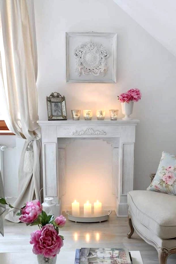 A Shabby Chic Fireplace