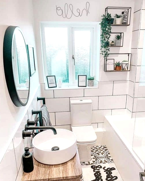 Increase Space With Oversized White Tiles