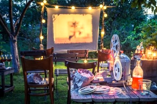 Hang a Sheet for Outdoor Movie Nights