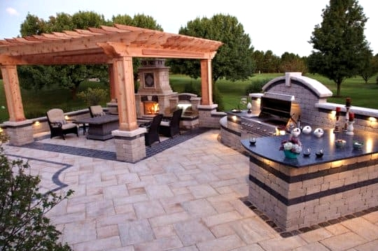 Keep a Brick Paving Design Throughout the Space