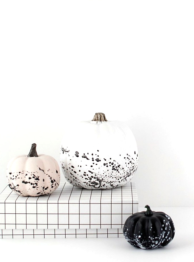Jackson Pollock Splatter Paint Pumpkin decor