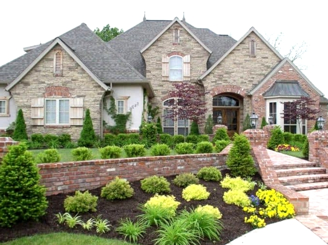 Build a Short Brick Wall for Sloping Lawns
