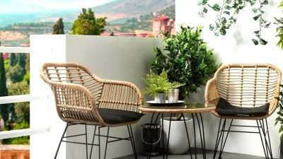 A Backyard Furnishings for the Balcony