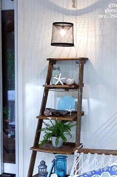 Add Wider Wooden Shelves to a Vintage Ladder