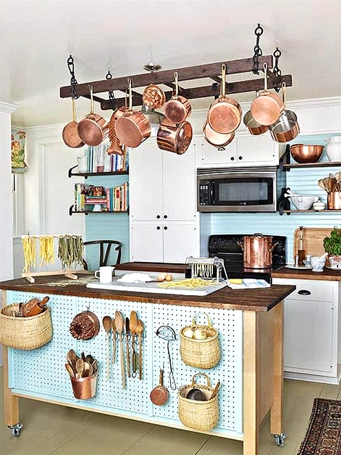 Hang It From the Kitchen Ceiling for a Pot Rack