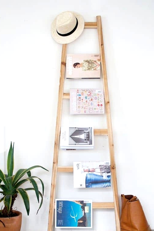 Small Rungs Are Great for a Magazine Rack