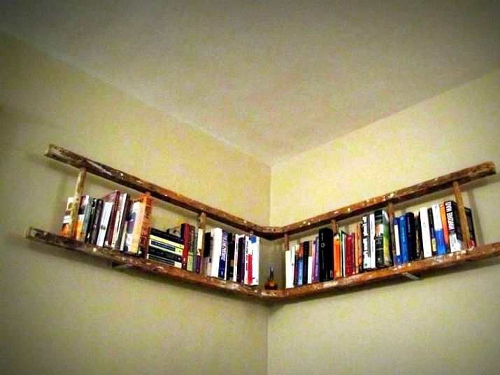 Build a Bookshelf from a Ladder