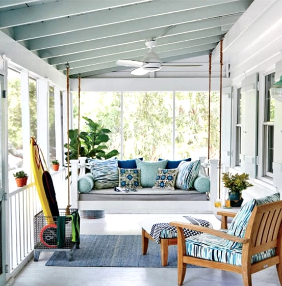 Install a Porch Swing Instead of a Couch
