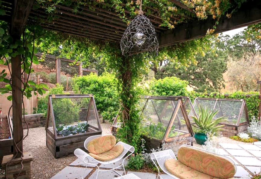 Build an Outdoor Grotto with a Pergola and Climbing Vines
