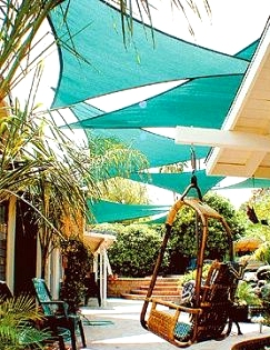 Hang Stunning and Colorful Overlapping Shade Sails