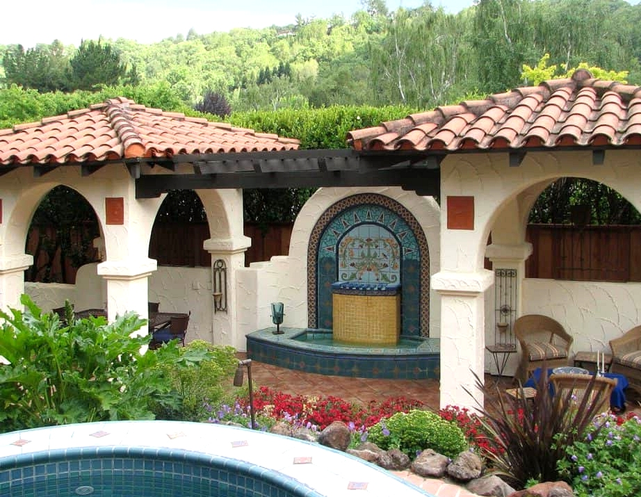 Channel Spanish Influences with an Outdoor Loggia