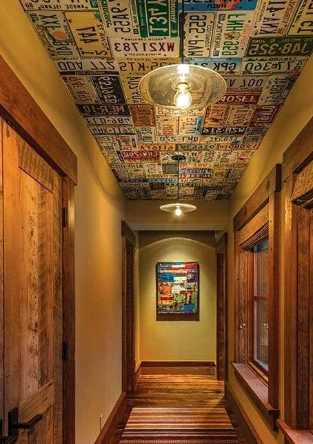 Get a Ceiling Made of Old License Plates