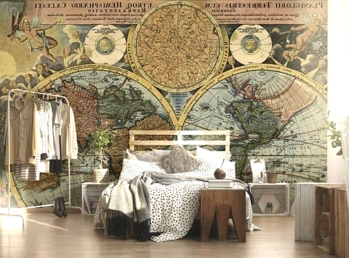 Old Map of the World on Your Wall