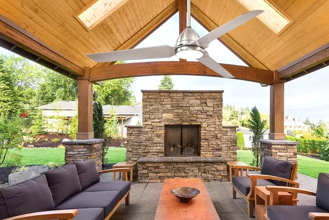Create a Backyard Fireplace