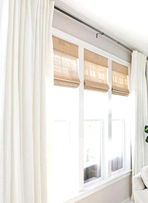 Use Bamboo Blinds with Curtains