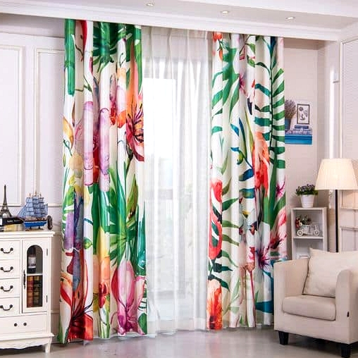 Get Floral Patterns on Your Curtains