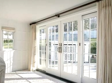 Use One Set of Curtains for the Entire Door Window Area