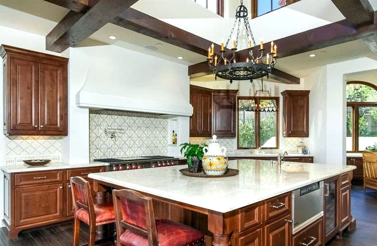 Look for Dark Wooden Touches and Cabinetry