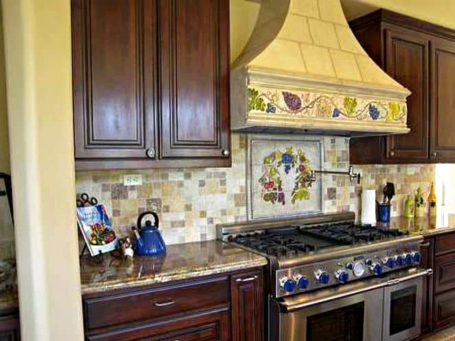 Get a Range Hood with Vineyard Detailing