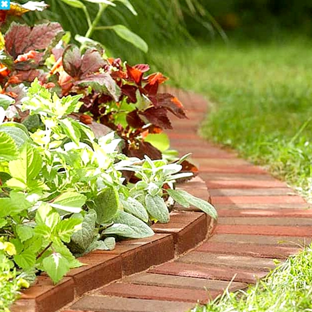 Build a Two-Tier Brick Garden Edge