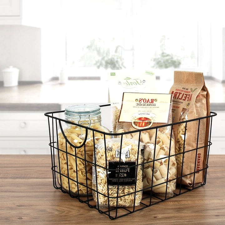 Use Large Wire Baskets For Organization