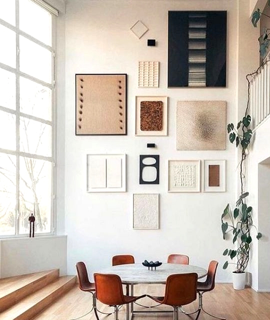 Gallery Wall Ideas To Inspire | Abstract fine art
