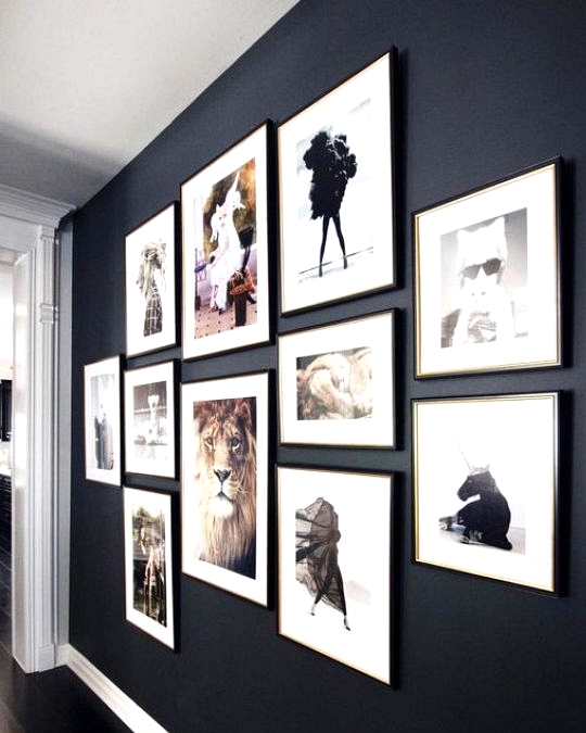 Gallery Wall Ideas To Inspire | Dramatic black wall