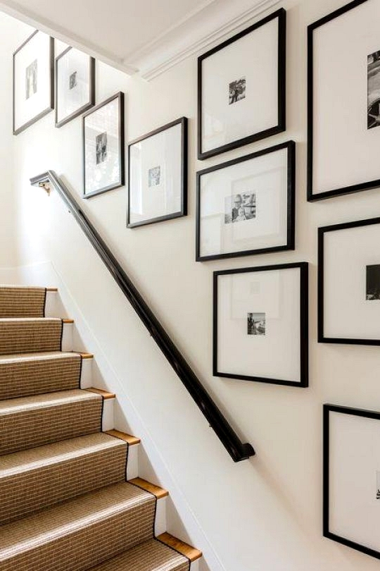 Gallery Wall Ideas To Inspire | Awkward Staircase Solution
