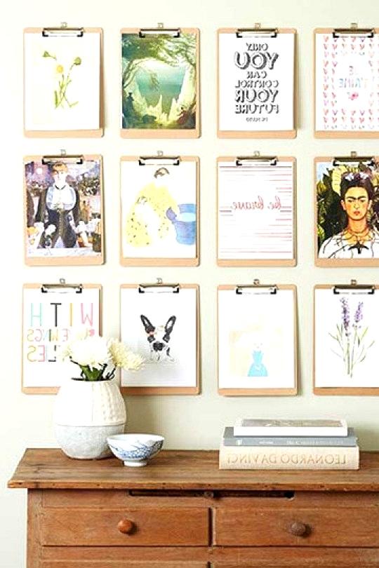 Gallery Wall Ideas To Inspire | Cheap Clip Board Art
