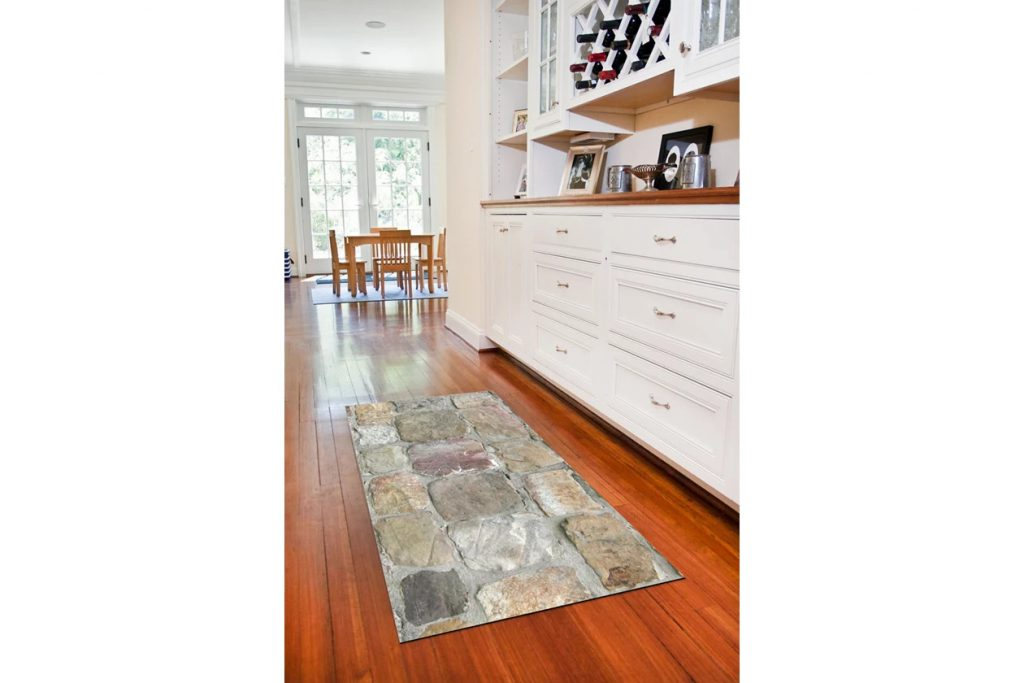 Go Rustic With a Rock Floor Accent Carpet