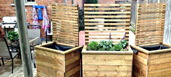 Amazing Privacy Planter DIY for your backyard