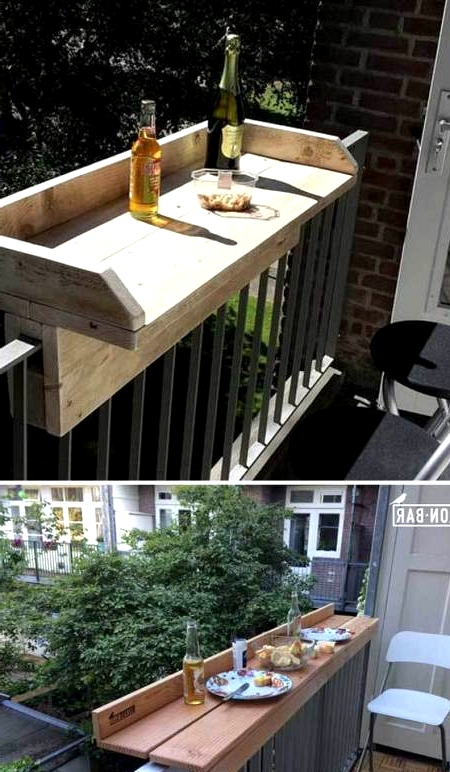This DIY balcony bar is perfect for small outdoor spaces in condos and apartments